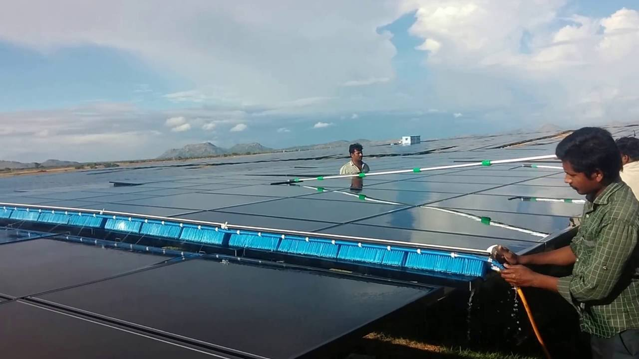 Solar Panel Cleaning System Youtube