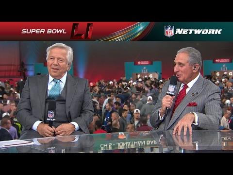Patriots Owner Robert Kraft & Falcons Owner Arthur Blank Sit Down Together | NFL Network
