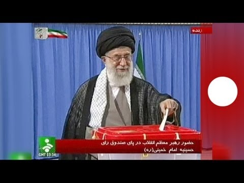 Khamenei leads Iranian voters to polls