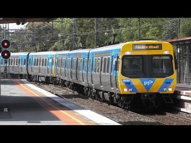 Melbourne Cup 2017 trains at Newmarket - Metro Trains Melbourne