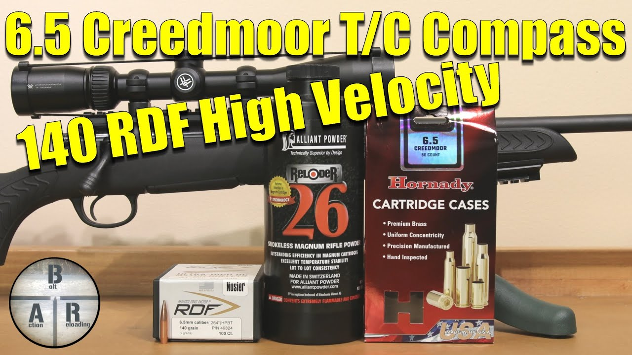 Nosler 140 RDF with Allaint Reloder 26 - Thompson Center Compass - 6 5  Creedmoor