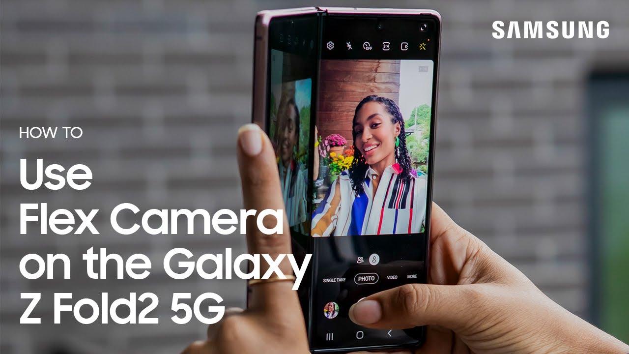Galaxy Z Fold2 5G: How to Use Flex Camera | Samsung
