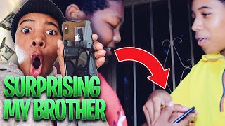 I SURPRISED MY BROTHER WITH A IPHONE XR!!! (WON'T BELIEVE WHAT HE SAID)