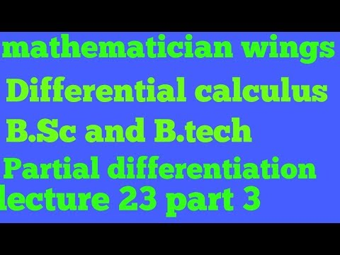 Differential calculus | engineering maths | Euler theorem | Composite function lecture 23 part 3