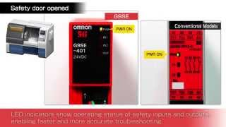 Compact Omron G9SE Safety Relay Units