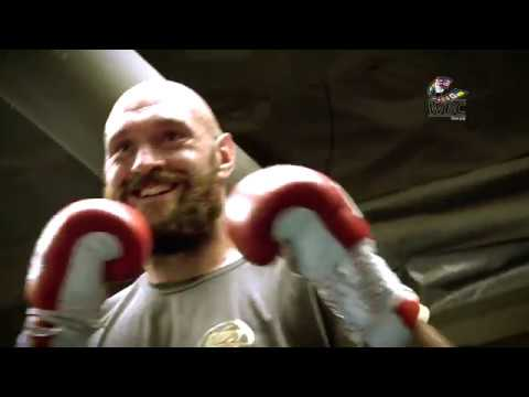 Tyson Fury Media Workout in Los Angeles