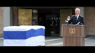 Vice President Joe Biden Eulogized former PM Ariel Sharon during knesset ceremony January 13,2014