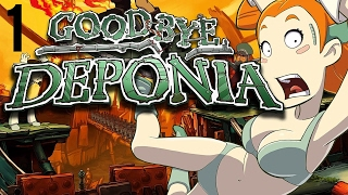 Goodbye Deponia part 1 (Game Movie) (Story Walkthrough) (No Commentary)