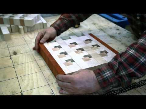 Making a custom 3D end grain cutting board #7 - YouTube