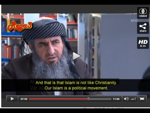 Unprecedented Honest Bone Chilling TV Interview with a Muslim Cleric in Norway (Subtitles)