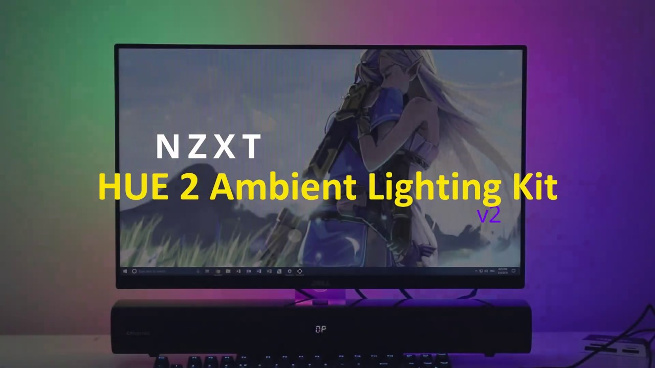 RGB effects behind my monitor - NZXT HUE 2 Ambient Lighting Kit v2 Product  Demo