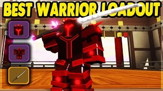 DAS *BEST* POSSIBLE WARRIOR LOADOUT IN SAMURAI PALACE | Roblox: Dungeon Quest