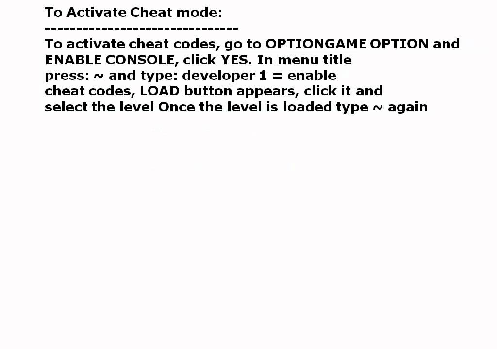 cheat game pc call of duty 2