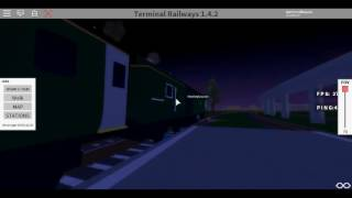 Roblox Terminal Railways Class 43 (HST) GWR Departs at Rozlyn with 3 horns