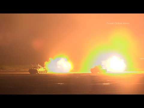 """[報道エリアで撮影]  平成29年度 富士総合火力演習 夜間演習 / Japan Ground Self-Defense Force """"FIRE POWER 2017 in FUJI"""""""