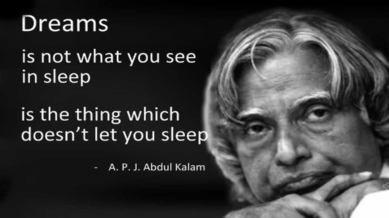 Most Famous Quotes Mesmerizing Abdul Kalam's Most Famous Quotes A Tribute To Him  Youtube