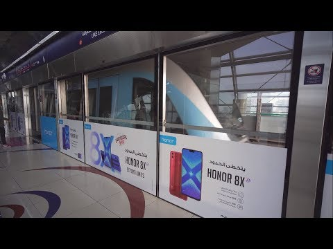 United Arab Emirates, Dubai, metro ride from Mall of the Emirates to Dubai Internet City