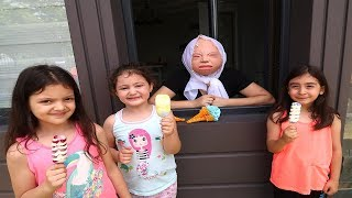 Kids pretend Play In Real Life Ice Cream Shop, fun kid video