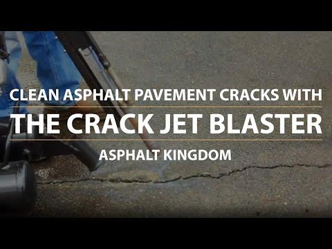 Clean Asphalt Pavement Cracks With The Crack Jet Blaster