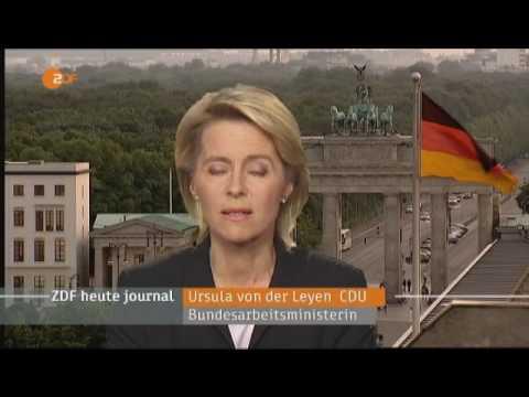 ZDF Heute: Interview mit von der Leyen