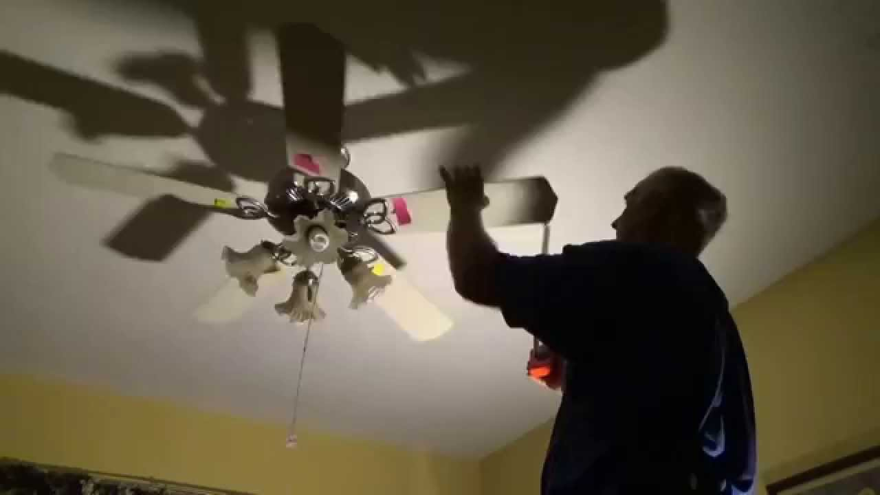 Balancing a ceiling fan youtube balancing a ceiling fan aloadofball Image collections