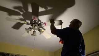 Balancing a ceiling fan