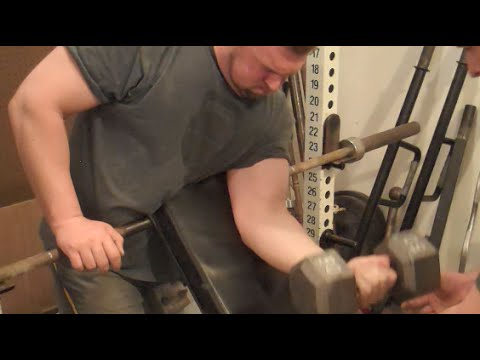 Build Bigger Arms Home Made Preacher Curl Youtube
