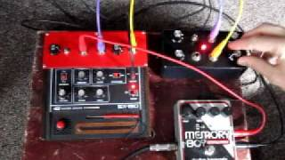 Modified Gakken SX-150 + modulation generator + EH Memory Boy
