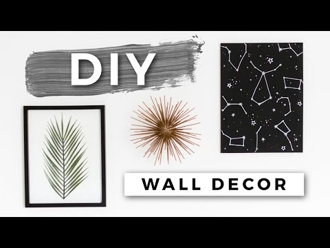 DIY Tumblr Room Decor! Minimal Wall Art! (Dollar Store DIYs)