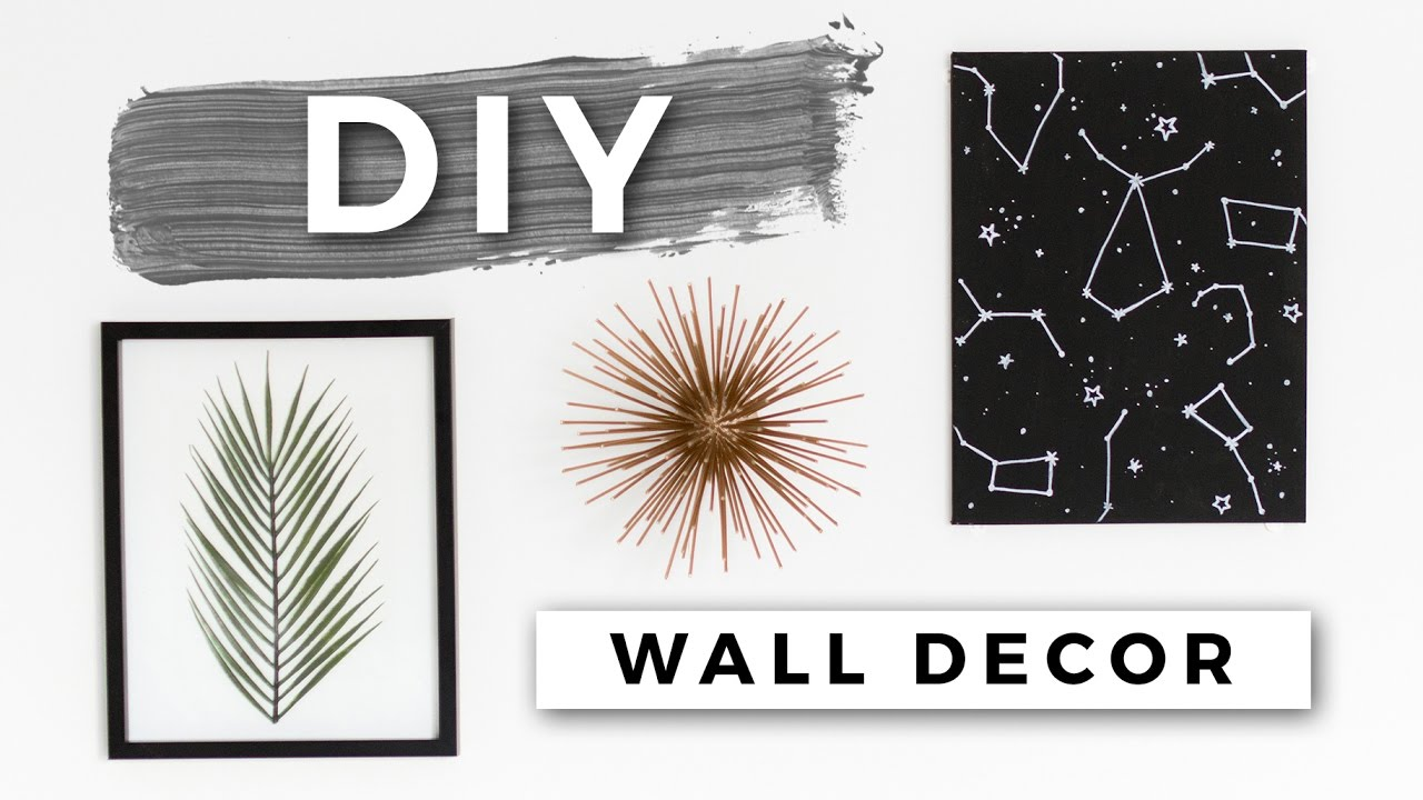 Diy Tumblr Room Decor Minimal Wall Art Dollar Store Diys Youtube
