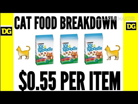 🐈🐈 CAT FOOD BREAKDOWN $0.55 PER ITEM 🤑🛒 @ DOLLAR GENERAL ON APRIL 25TH! 🛒🤯 REQUESTED