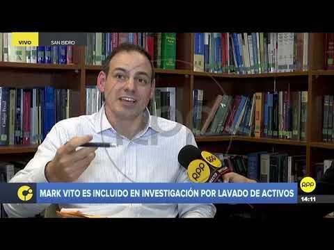 """Mark Vito sobre investigación por lavado de activos: """"¿Mi delito es amar a Keiko Fujimori?"""""""