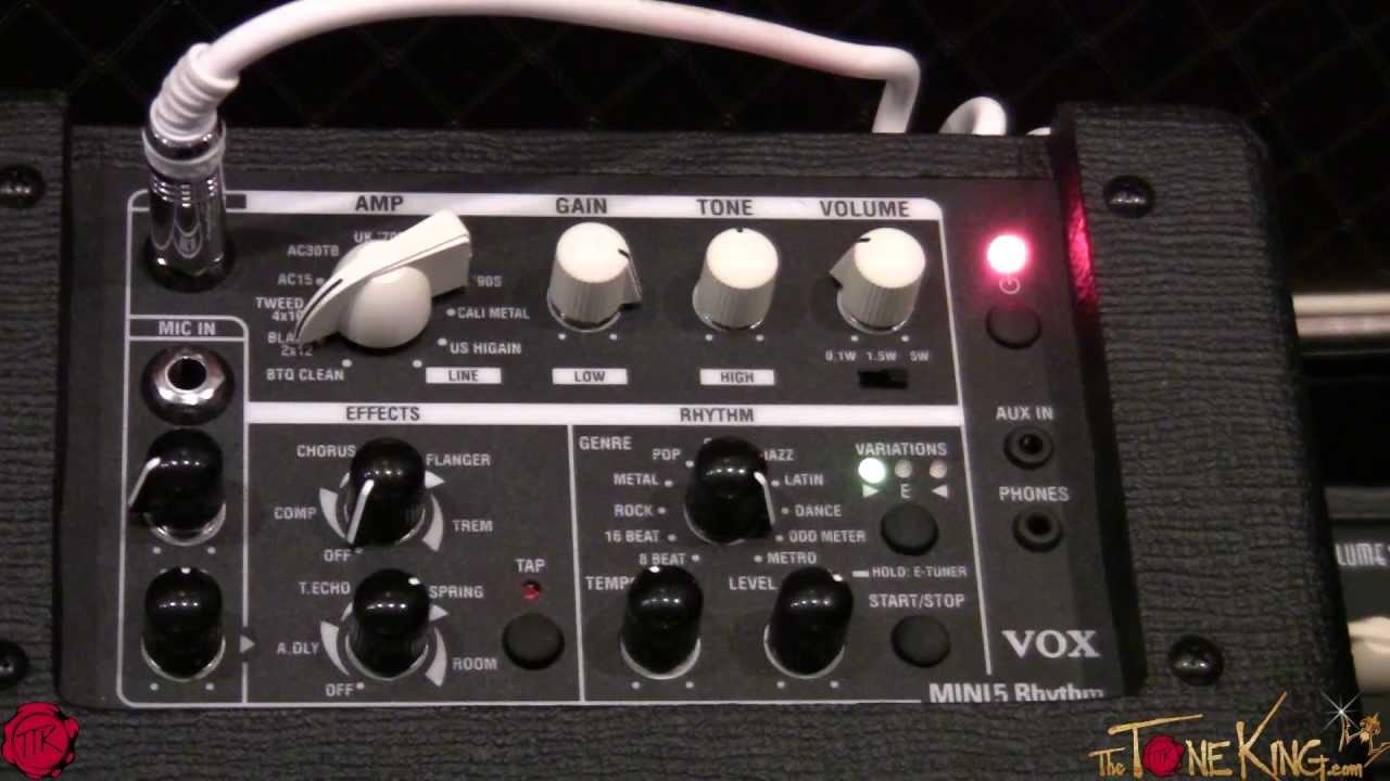 vox mini 5 rhythm guitar amp youtube. Black Bedroom Furniture Sets. Home Design Ideas