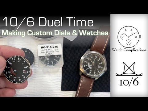 Making Custom Dials & Watches: A Dual Time Watch