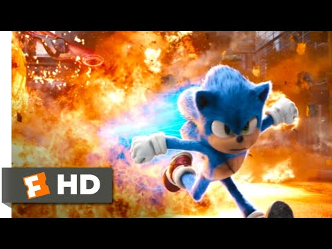 Sonic the Hedgehog (2020) - Racing Robotnik Through the Rings Scene (9/10) | Movieclips