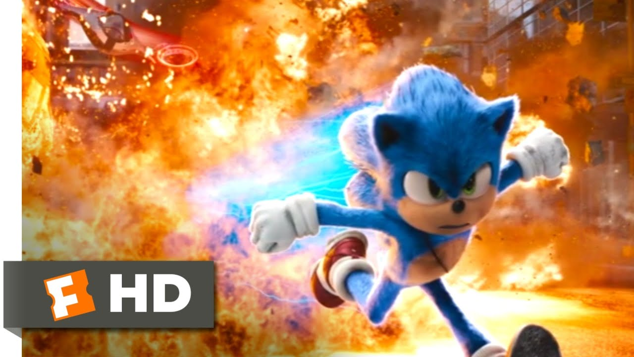 Sonic The Hedgehog 2020 Racing Robotnik Through The Rings Scene 9 10 Movieclips Youtube