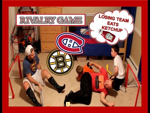 RIVALRY GAME - BOSTON VS MONTREAL - WITH UNCLE JOHN - LOSING TEAM EATS KETCHUP