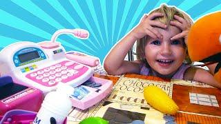 ИГРАЕМ В МАГАЗИН. Супермаркет Касса KEENWAY Игрушки Для Детей Supermarket for children Shopping fun