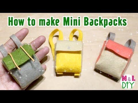 DIY Miniature Backpacks for Doll | How to make a Mini Backpack No Sew