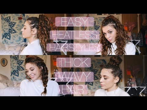 Easy Heatless Hairstyles For Thick Wavy Curly Hair