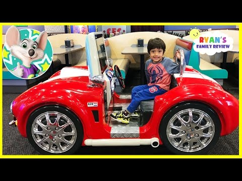 Chuck E Cheese Family Fun Indoor Kids Play Area with Ryan's Family Review