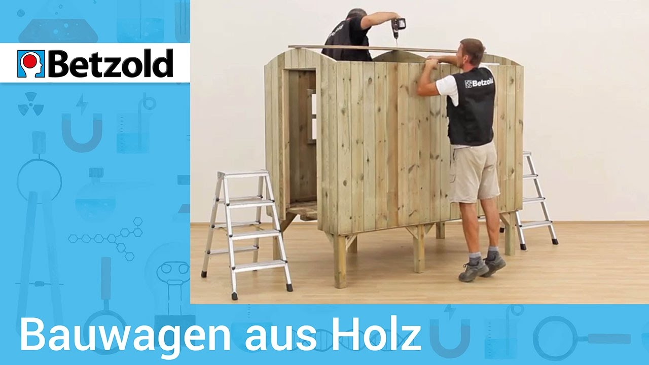 bauwagen aus holz ideal f r kinder betzold youtube. Black Bedroom Furniture Sets. Home Design Ideas
