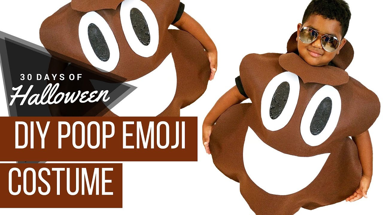 Diy poop emoji costume jphalloween 30 days of halloween youtube solutioingenieria