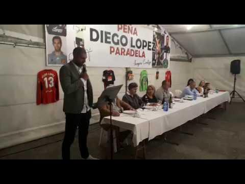 Homenaxe a Diego López en Paradela