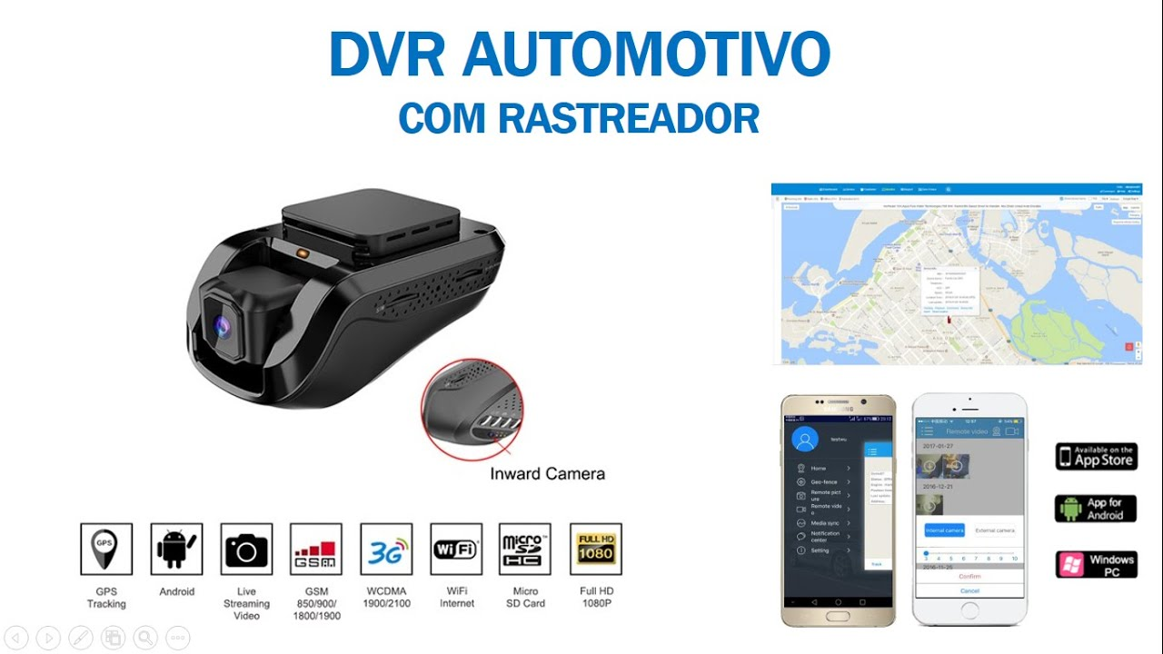 CFTV | Mini DVR Veicular com Rastreador - JC100