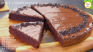 3 ingredients moist CHOCOLATE CAKE in 15 minutes   LockDown Cake Recipe by Tiffin Box   Eggless Cake
