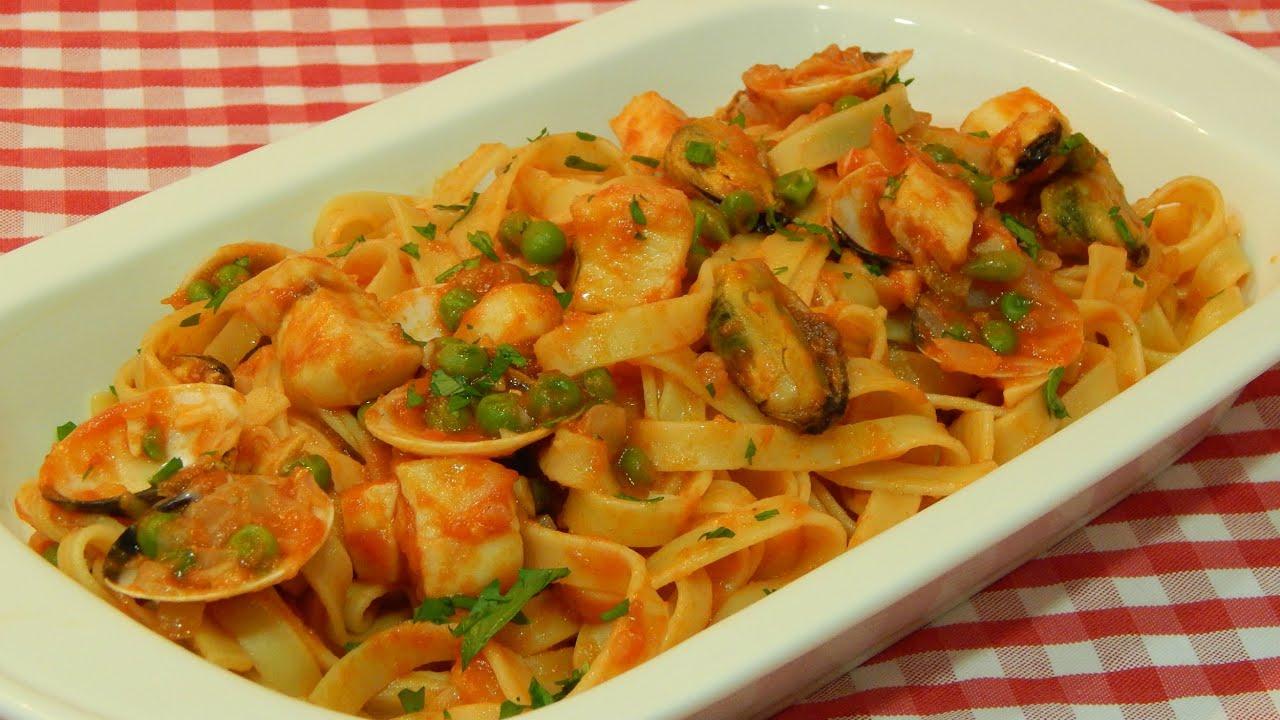 Tallarines a la marinera receta f cil y r pida youtube for Cocinar noodles
