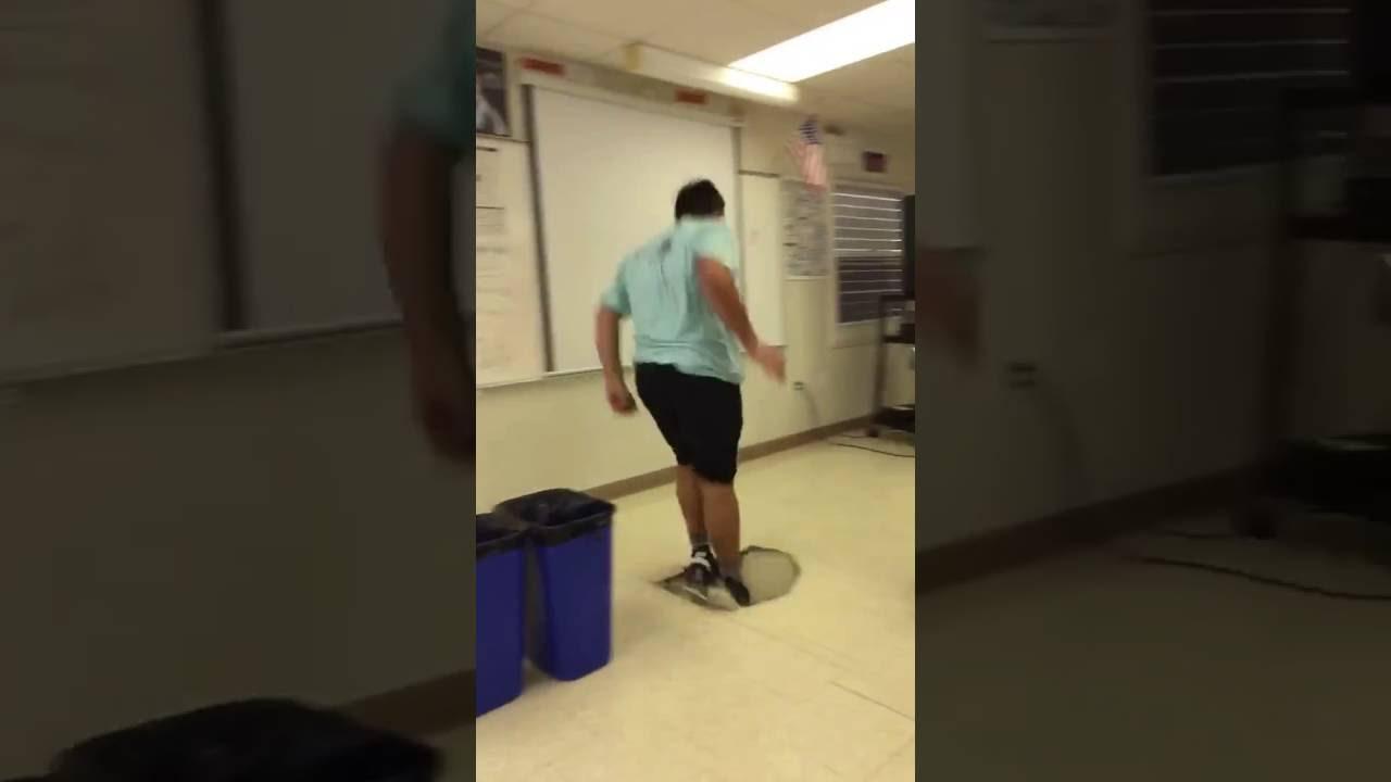 Guy Jumps And Breaks Hole In Floor Fail Youtube