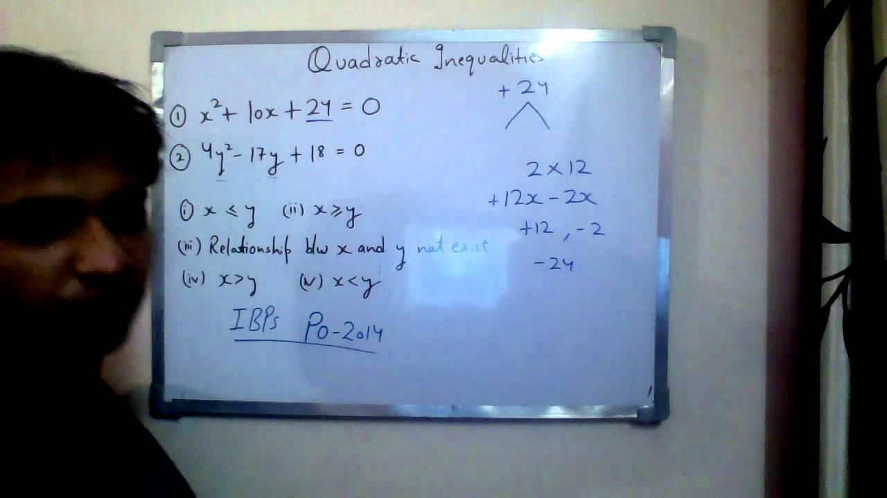 quadratic equations questions pdf for bank exams