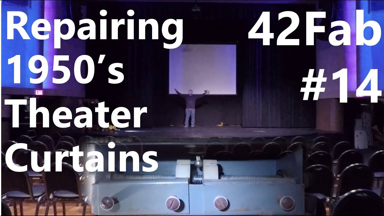 repairing 1950 s theater curtains and mechanical timer 42fab 14